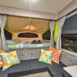 Inside of Jayco Swan Outback Pop-Top Camper Trailer Hire Exmouth, Ningaloo Reef