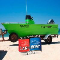 Polycraft 4.5m centre console boat for Hire at Ningaloo Reef