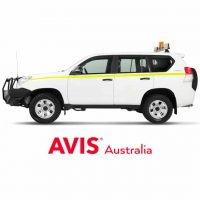 Rental car with tow ball for self-tow through Avis at Ningaloo Reef